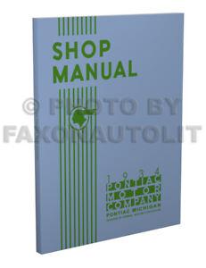 1934 Pontiac Shop Manual Repair Service Book