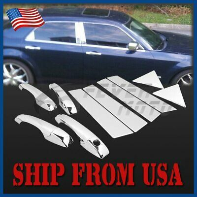 US Chrome Side Door Handle Cover w//Keyhole For LEXUS IS200 IS300 RX300 98-05 FM