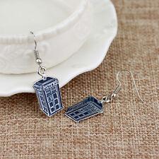 New Phone Booth Dangle Earrings Tardis Police Box Drop Earrings Women Jewelry