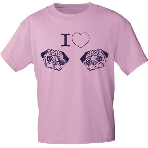 T-Shirt unisex S M L Xl Xxl Damen Shirts Hund Mops I ♥ Moepse 10720