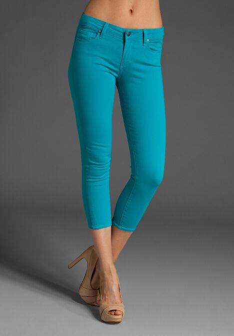 Nwt  Paige ROXBURY Crop Stretch Skinny Jeans Pants 32 Jenny Lt.bluee