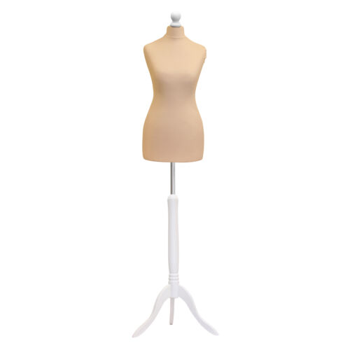 Female Size 6//8  Tailors Bust Mannequin Cream Dummy  Fashion  Retail Display