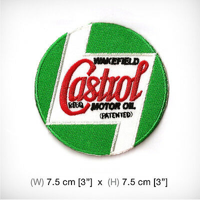 New Castrol Embroidered Patch Iron on or sew , Motor Sport Racing Oil Power
