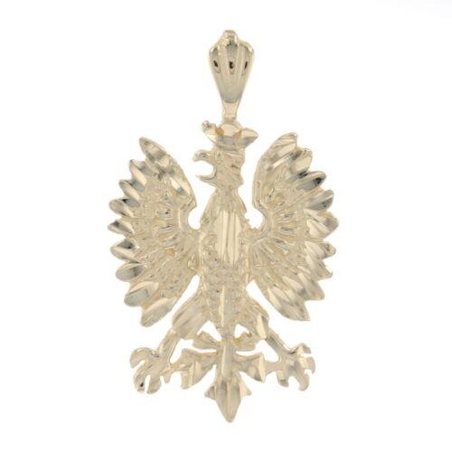 Yellow Gold Heraldic Eagle Pendant - 14k Coat of A