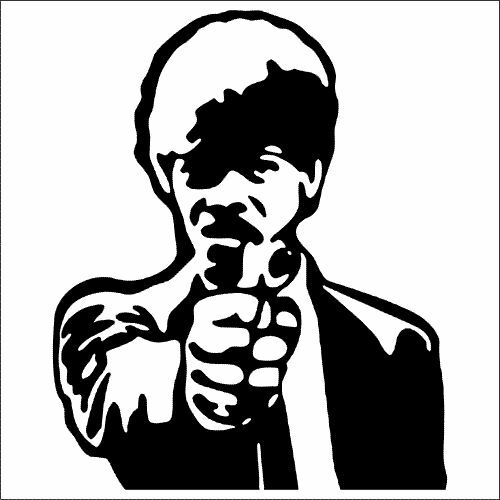 Samuel L TWO Jackson Pulp Fiction Vinyl Decal // Sticker 2 Pack