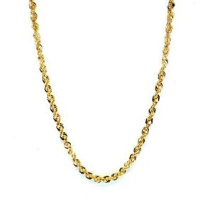 BRAND NEW 10KT YELLOW GOLD DIAMOND CUT HOLLOW 3MM ROPE CHAIN Canada Preview