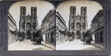 France Reims Stereo Vintage Argentique Silver Print