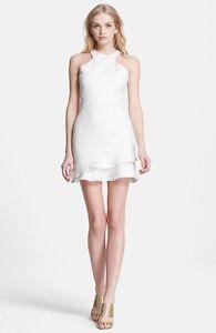 Fit Nieuwe wit Flare jurk 'barcelona' 10300 asymmetrische L8 Parker maat CerxodB