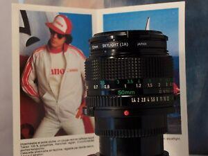 Canon FD  objectif 50mm f/1.4