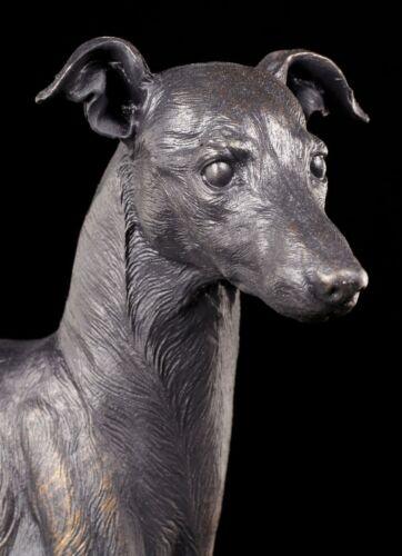 Greyhound Rüde Hund Bronze-Optik Deko Statue Windhund Figur