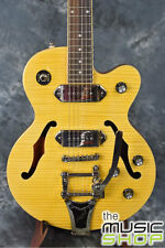 New Epiphone Wildkat Archtop Electric Guitar with Bigsby -Antique Natural Finish