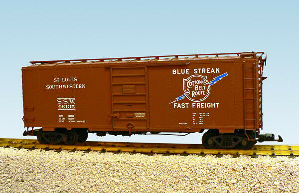 USA Trains G Scale 6 ft. Panel Door PS1 Box Car R19236A Cotton Belt - Marroneee