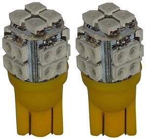 2x-ampoule-T10-W5W-12V-20LED-SMD-jaune-veilleuses-eclairage-interieur-coffre