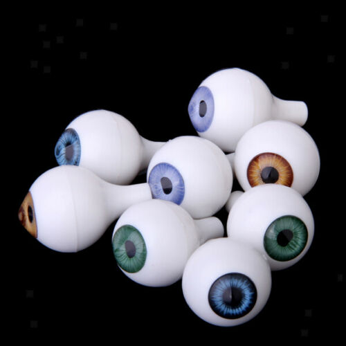 8Pcs Acrylic Safety Eyes for Doll Animal Puppet Amigurumi DIY Halloween Prop