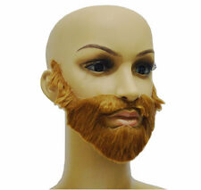 Tinksky Self Adhesive Fake Eyebrows Beard Moustache Goatee Kit Hair Cosplay Props For Masquerade Party
