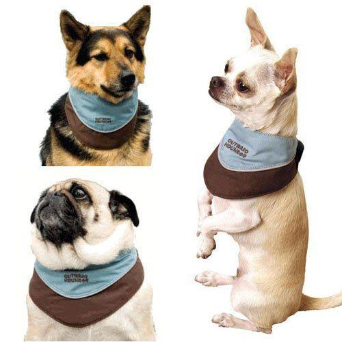 KYJEN Outward Hound Designer Cool It Dog Pet COOLING Bandana Scarf - ALL SIZES