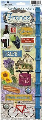 PAPER HOUSE FRANCE PARIS TRAVEL VACATION CARDSTOCK SCRAPBOOK STICKERS