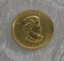 2009 CANADA 9999  GOLD  $1 DOLLAR MAPLE LEAF  1/20 oz.  CAMEO LOW MINTAGE