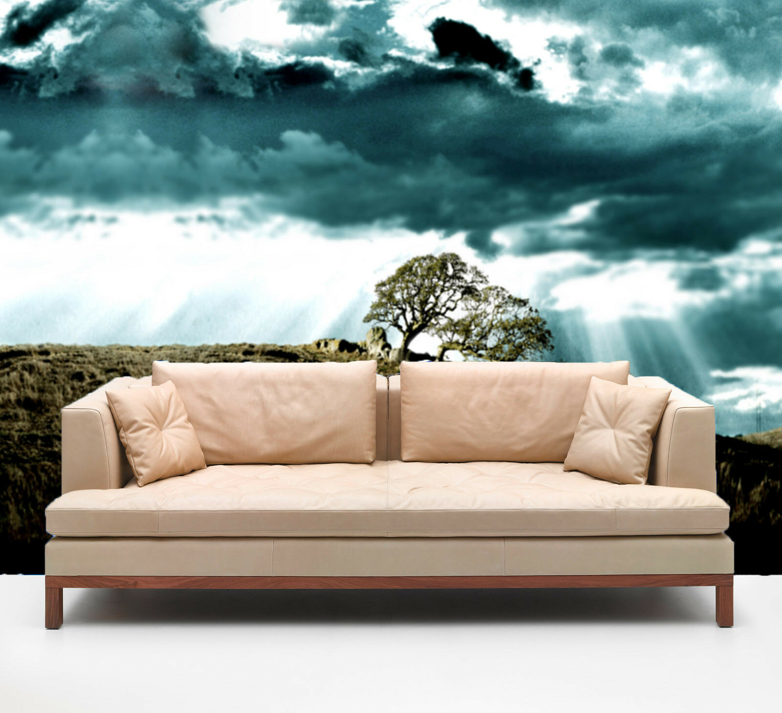 3D Tree Dark Clouds 8 Wall Paper Murals Wall Print Wall Wallpaper Mural AU Kyra