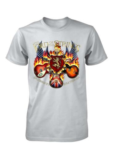 BNWT Lord of the Strings Guitare base Rock Band Musique Enfants T Shirt 3-15 Ans