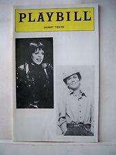 LIZA IN CONCERT WITH JOEL GREY Playbill LIZA MINNELLI Shubert Theatre PHILA 1981
