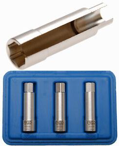 10 mm 3//8 | 16 mm Vaso para buj/ías hexagonal BGS 2466 cuadrado interno
