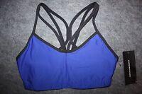 C10 125 Heidi Klum for New Balance Womens HKNB Sexy Sports Bra Blue Medium
