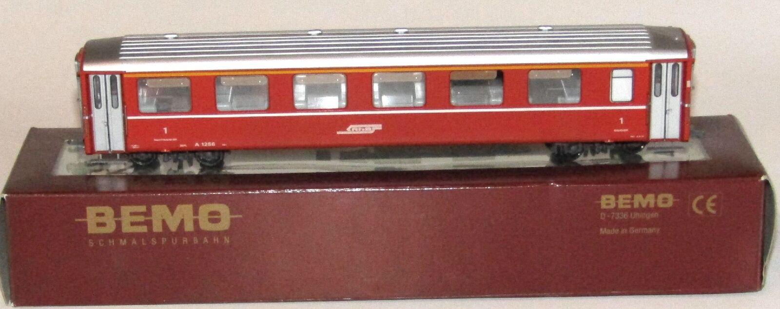 marca en liquidación de venta BEMO RhB Einheits-Personenwagen 1. Kl. A 1256 rojo, rojo, rojo, H0m, Art.3268 126, OVP  el mejor servicio post-venta