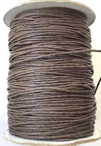 10 Yards Genuine Black Natural Round Cotton Waxed Cord-Jewelry Supplies