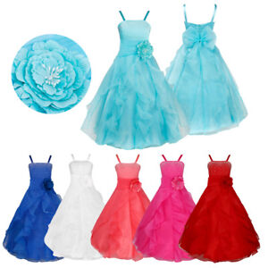 Flower-Girls-Dress-Princess-Party-Pageant-Bridesmaid-Wedding-Prom-Formal-Gown