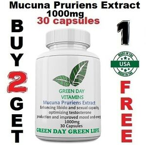 Mucuna-Pruriens-Extract-1000mg-L-Dopa-Velvet-Bean-Made-In-USA-Free-shipping
