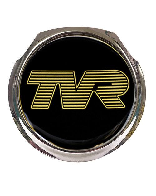 Tvr Gold Logo Black Background Car Grille Badge Fixings For Sale Online Ebay