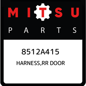8512A415-Mitsubishi-Harness-rr-door-8512A415-New-Genuine-OEM-Part