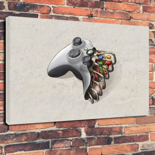 """Xbox Controller Ribcage Heart Printed Canvas Picture A1.30/""""x20/"""" 30mm Deep"""