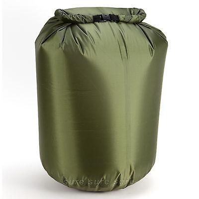 ARMY GREEN 80L DRY SACK WATERPROOF BAG FOLD BAG CANOE KAYAK SWIM SAIL RAFT BOAT