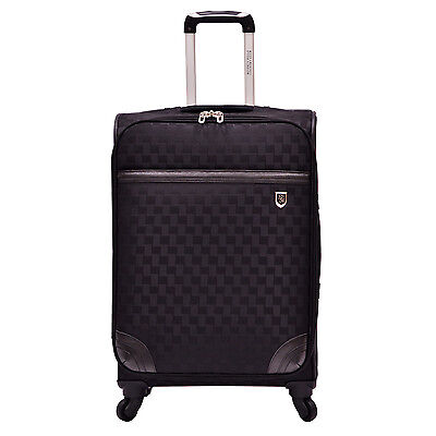 "Beverly Hills Country Club Frankfort 26"" Woven Jacquard Spinner Luggage Suitcase"
