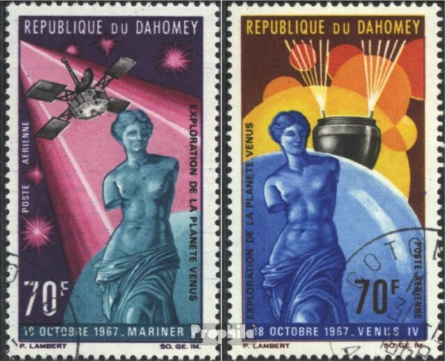 Dahomey 335-336 (complete issue) used 1968 planet Venus