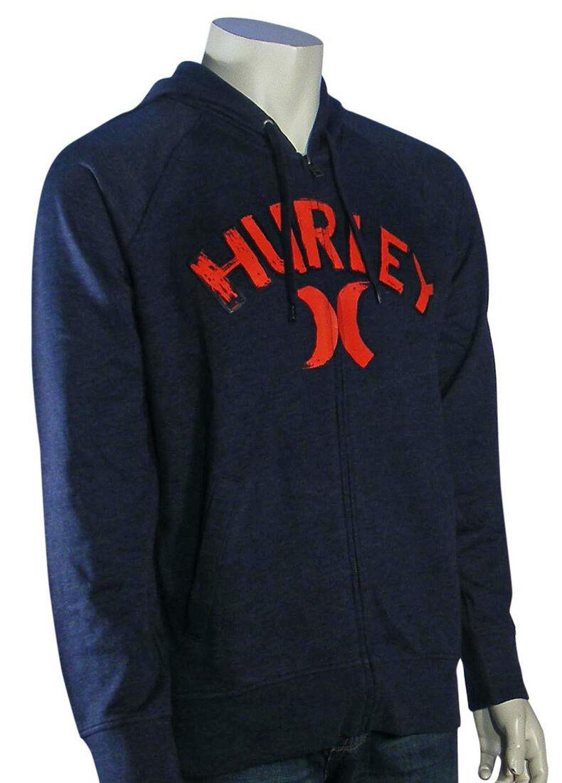 Hurley Unwritten Zip Fleece Hoody - Heather Navy - New