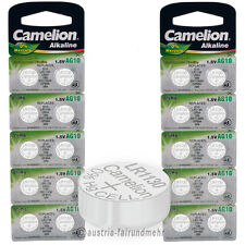 """20x Camelion Knopfzellen Alkaline AG10 LR54 V10GA 1130"