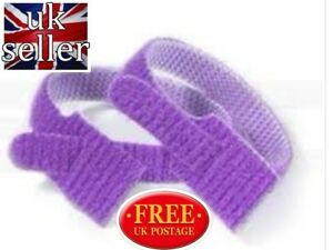 VELCRO-BRAND-ONE-WRAP-10-x-25mm-x-300mm-Cable-Tie-PURPLE-Double-Sided-Strapping