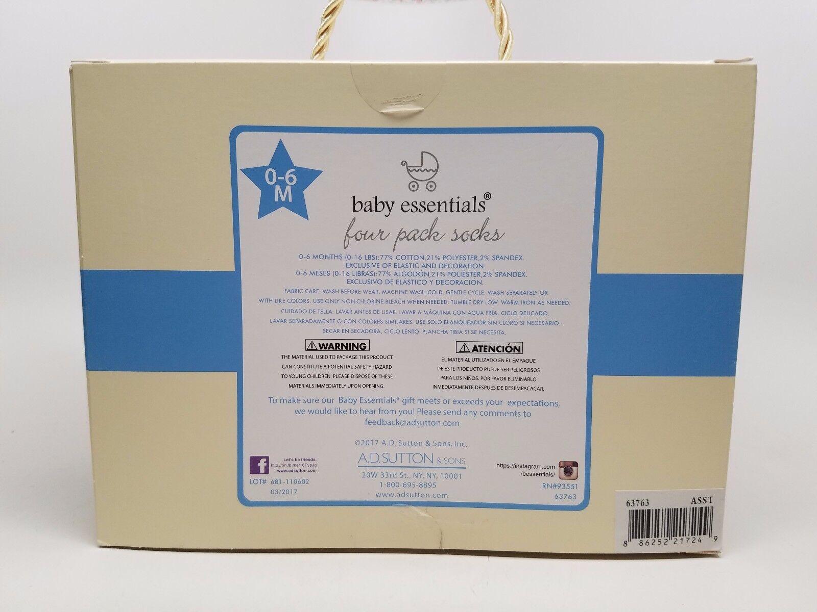 Baby Essentials Pack Of 4 Shoe Theme Socks Cute Gift 0 6 Ebay