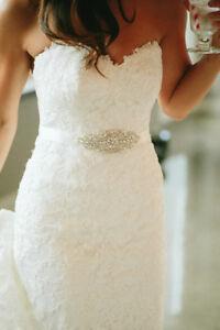 Image Is Loading UK LEONA Rhinestone Pearl Diamante Bridal Sash Wedding