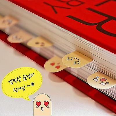Face Emoticon10 Fingers Sticker Post-It Bookmark Point Marker Memo Sticky Notes