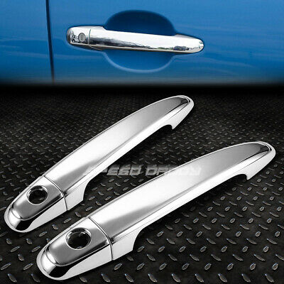 CHROME SIDE 2-DOOR HANDLE COVER CAP TRIM KIT FOR 05-11 TOYOTA TACOMA TRB GRN