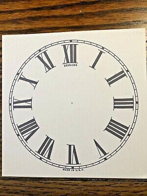 5 Inch Clock Replacement Paper Dial Lot 158