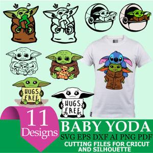 Baby Yoda Star Wars Baby Yoda Svg Silhouette Cricut Cut File Svg Png Ebay