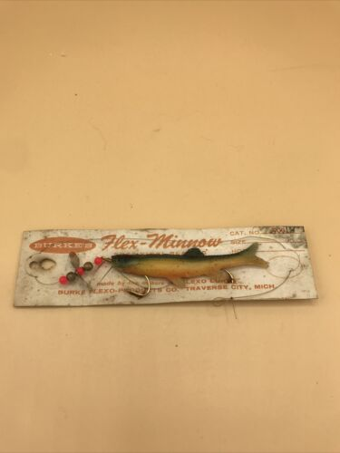 Details about  /Vintage Carded Burke's Flex Minnow Fishing Lure   Free Shipping