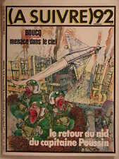 A SUIVRE ** N°92 ** SEPTEMBRE 1985 BOUCQ,GELUCK,SERVAIS,BALTUS,SOKAL,BEZIAN