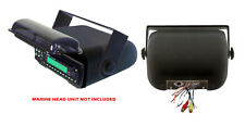 Water Proof Marine Boat Stereo Radio Underdash or Overhead Housing Cover Black