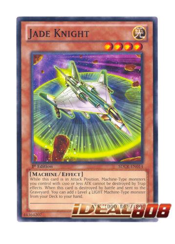 YUGIOH x 3 Jade Knight 1st Edition Near Mint SDCR-EN014 Common